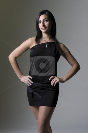 Fashion model stock photo, Fashion model in vamp position by Yann Poirier