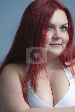 Female model with red hair stock photo, Twenty something model with bright red hair by Yann Poirier