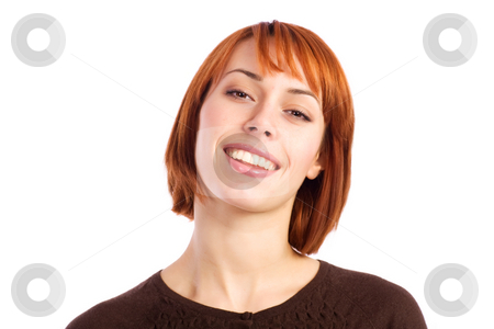 Happy Woman Portrait stock photo, Portrait of a beautiful young woman smiling. by Rognar