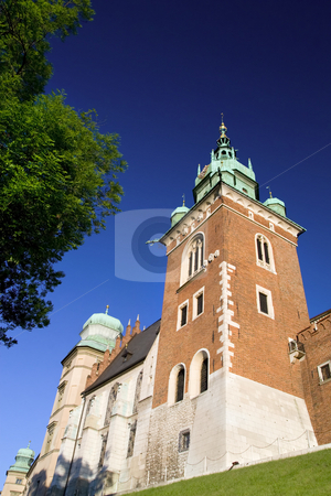 The Wawel Royal Castle in Cracow stock photo, Part of he Wawel Royal Castle in Cracow, Poland built in 14th at the behest of Casimir III the Great, rebuilt by Jogaila and Jadwiga of Poland. by Rognar