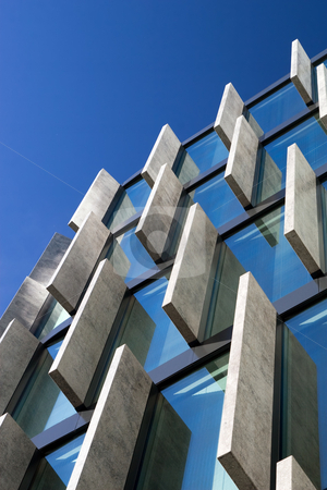 Modern Architecture stock photo, Modern architecture in the Warsaw downtown, Poland. by Rognar