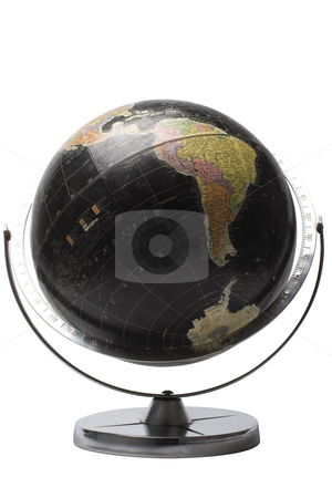 Black globe - Afrique stock photo, Terrestrial globe in black color showing the african continent by Yann Poirier