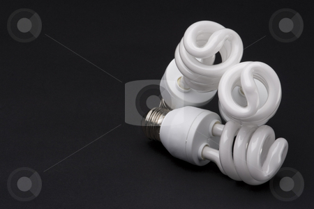 Stack bulb stock photo, Three spiral bulb stack one on top of the other by Yann Poirier