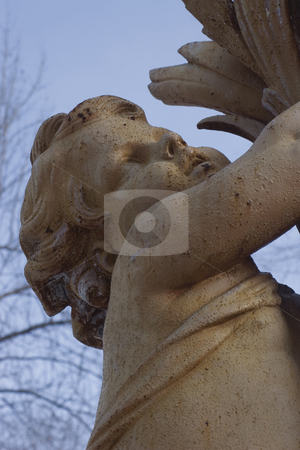 Cherubin stock photo, Close up of a cherubin statue by Yann Poirier