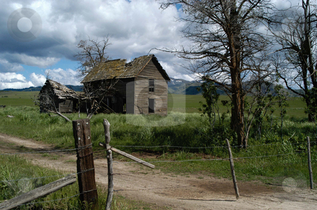 The Old Ireland House stock photo, Idaho, Elmore County, Prairie, The Old Ireland House by David Ryan