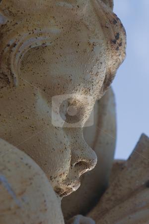 Close up Cherubin stock photo, Close up of a cherubin statue by Yann Poirier
