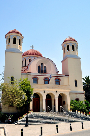 Orthodox cathedral in Rethymno, Crete stock photo, Travel photography: Greek Orthodox cathedral in Rethymno, Crete by Fernando Barozza