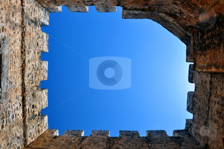 Frangocastello castle. stock photo, Travel photography: Frangocastello: venetian castle on the south coast of Crete by Fernando Barozza