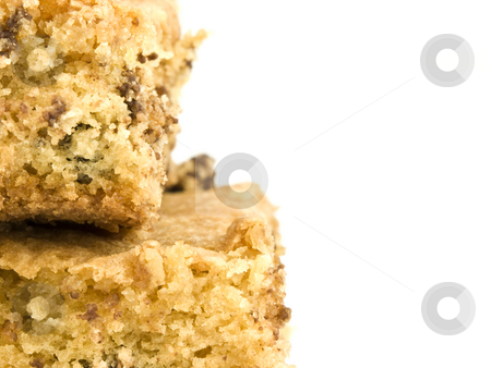 Chocolate Chip Cookie Bar with Copyspace stock photo, Closeup of a Chocolate chip Cookie Bar with Copyspace by John Teeter