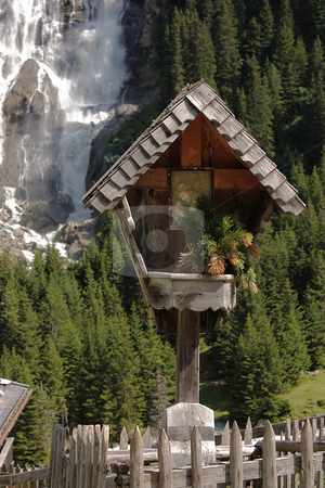 Christian wayside shrine stock photo, Christian wayside shrine in Tyrol / Austria by Andre Janssen