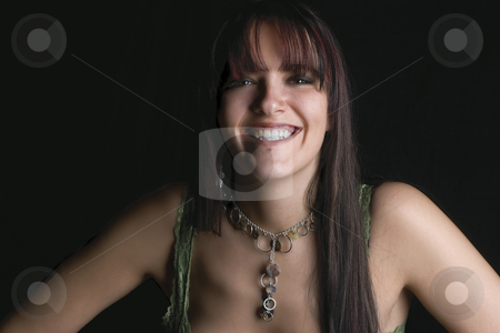 Fashion model - big smile stock photo, Twenty something fashion model with big smile by Yann Poirier