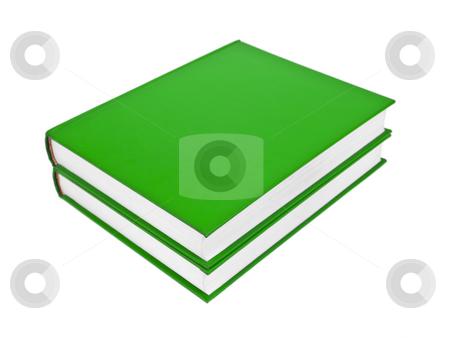 Green books stock photo, Two green books isolated on white background. by Ignacio Gonzalez Prado