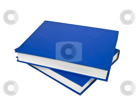 Blue books stock photo, Two blue books isolated on white background. by Ignacio Gonzalez Prado