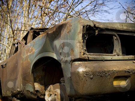 Abandoned car stock photo, An old, broken and rusty abandoned car. by Ignacio Gonzalez Prado