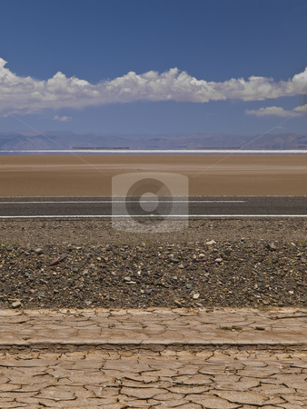 Strata stock photo, A set of different geological strata in a desert near a salt field. by Ignacio Gonzalez Prado