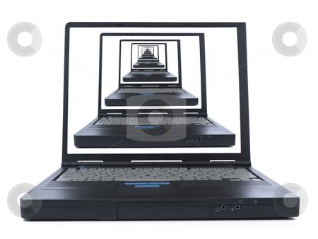 To the infinite and beyon stock photo, Infinite laptop view. A global comunication concept image. by Ignacio Gonzalez Prado