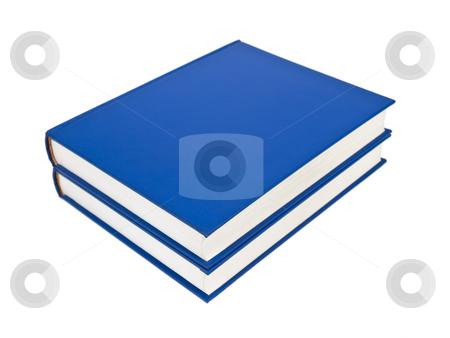 Blue books stock photo, Two blue books isolated on white background. by Ignacio Gonzalez Prado