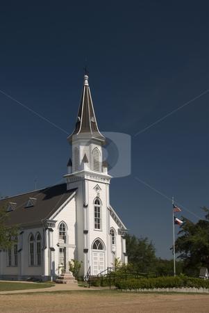 Painted Church at Dubina stock photo, The painted church at Dubina. by Charles Buegeler