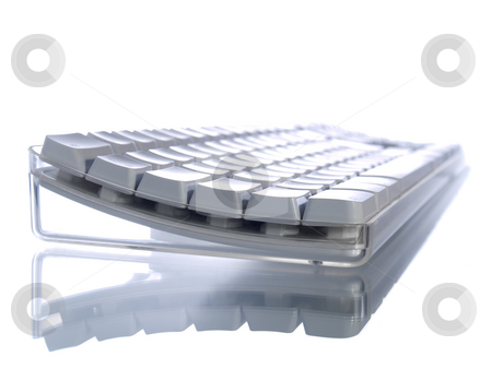 White keyboard stock photo, White computer keyboard isoleted on white background. by Ignacio Gonzalez Prado