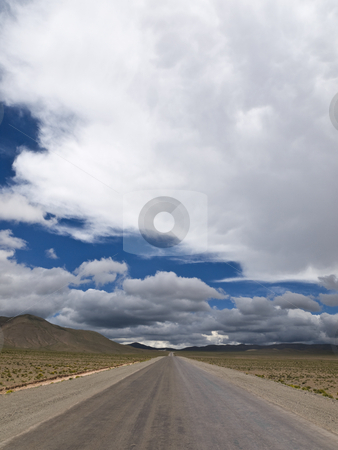 On the road again stock photo, A straight road to the infinite horizon. No lane line. by Ignacio Gonzalez Prado