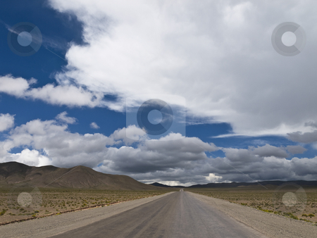 On the road again stock photo, A straight road to the infinite horizon. No lane line. by Ignacio Gonzalez Prado
