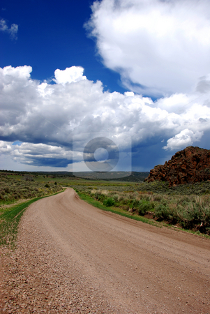 Mud Flat Road stock photo, USA, Idaho, Owyhee County, Owyhee Uplands Scenic Bypass,  Mud Flat Road by David Ryan