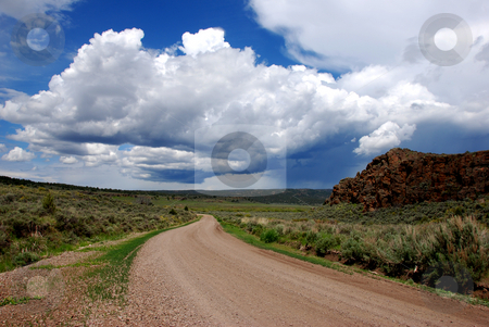 View from Mud Flat Road stock photo, USA, Idaho, Owyhee County, Owyhee Uplands Scenic Bypass, Mud Flat Road by David Ryan