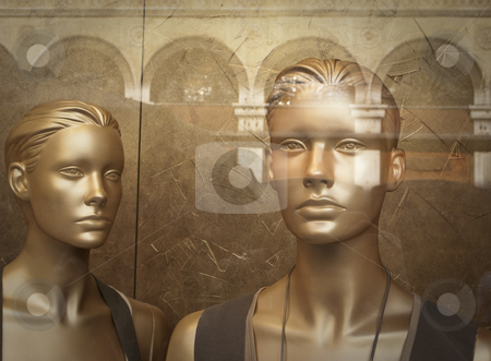 Artificial Beauty stock photo, Two display dummies by mdphot