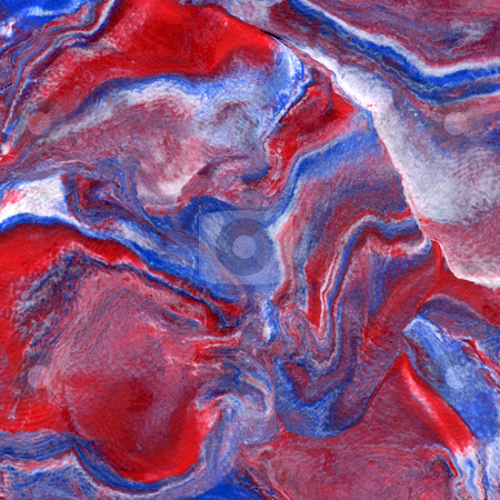 Mixed red white and blue plasticine abstract background. stock photo, Mixed red white and blue plasticine abstract background. by Stephen Rees