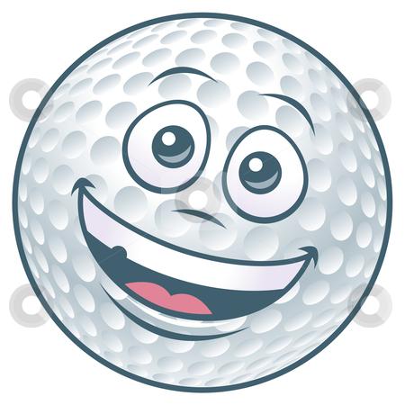Cartoon Golf Ball Character stock vector clipart, Vector illustration of a cartoon golf ball character. by John Schwegel