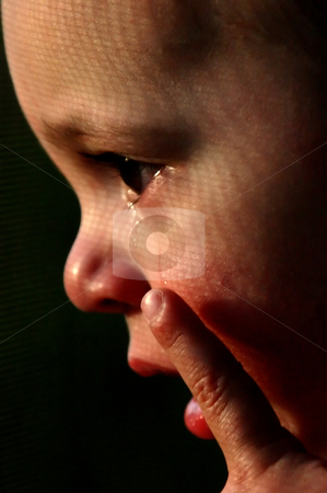Crying Little Boy stock photo, Close up on a Baby Boy Crying by Mehmet Dilsiz