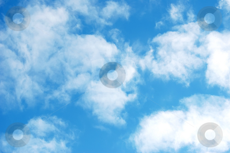 Blue sky and clouds stock photo, Blue sky and white clouds by Dmitry Rostovtsev