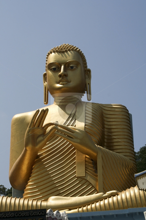 Buddha at dambulla stock photo, Sitting figure of buddha at dambulla in sri lanka by Mike Smith