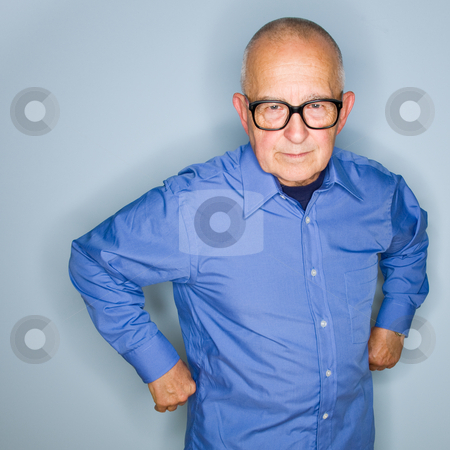 Angry senior man in eyeglasses stock photo, Angry senior man in eyeglasses by Jonathan Ross