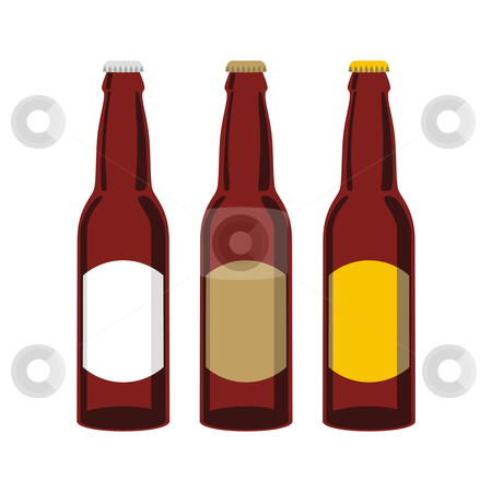 Isolated beer bottles set  stock vector clipart, Vector illustration of isolated beer bottles set by pilgrim.artworks