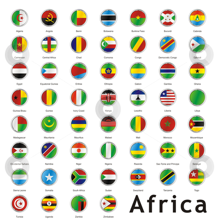 Fully editable vector world flags web buttons with official colors and details stock vector clipart, Fully editable vector world flags web buttons with official colors and details by pilgrim.artworks