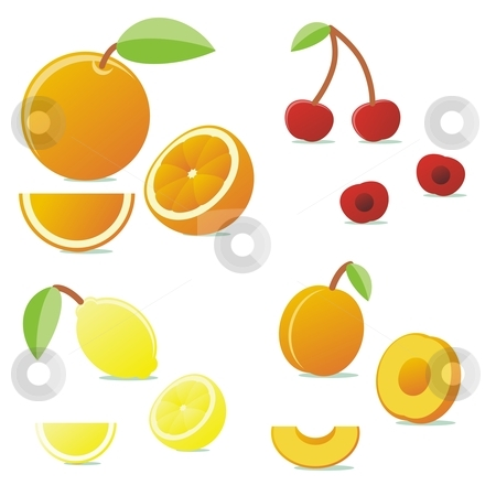 Fully editable vector vector fruits with details ready to use stock vector clipart, Fully editable vector vector fruits with details ready to use by pilgrim.artworks