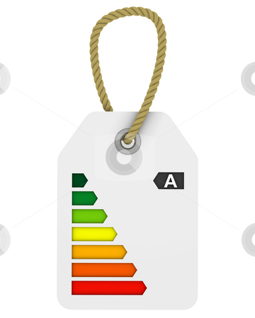 A class energy performance tag stock photo, Tag with A class energy performance by Nuno Andre
