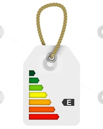 E class energy performance tag stock photo, Tag with E class energy performance by Nuno Andre