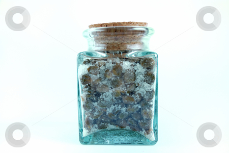 Jar of capers stock photo, Jar of salted capers over white background by ALESSANDRO TERMIGNONE