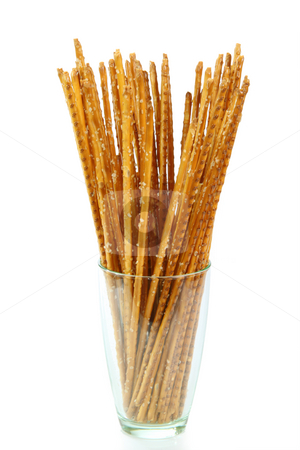 Saltsticks stock photo, Saltsticks in a glass on white background by Birgit Reitz-Hofmann