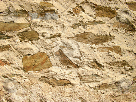 Cobblestone stock photo, Texture of antique stone wall by Birgit Reitz-Hofmann