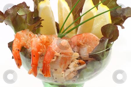Seafood stock photo, Fresh delicious seafood salad in detail by Birgit Reitz-Hofmann