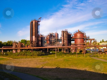 Gas Works park stock photo, Gas Works park, Seattle by Jaime Pharr