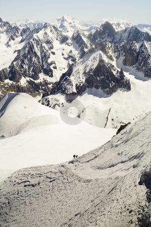 Mont Blanc stock photo, The Mont Blanc mountain range in Chamonix by Stephen Meese