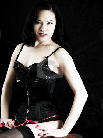 Asian Beauty stock photo, Beautiful asian woman in a corset by Cora Reed
