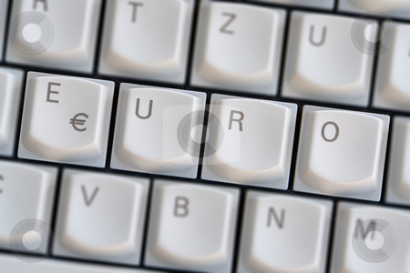 Keyboard: Euro stock photo, Keyboard: Euro by Wolfgang Heidasch