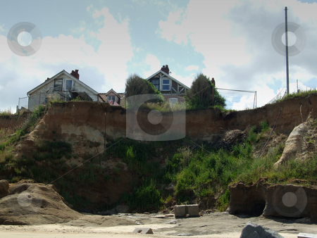 Coastal Erosion 1 stock photo, Coastal erosion on the east coast of England by Stuart Atton