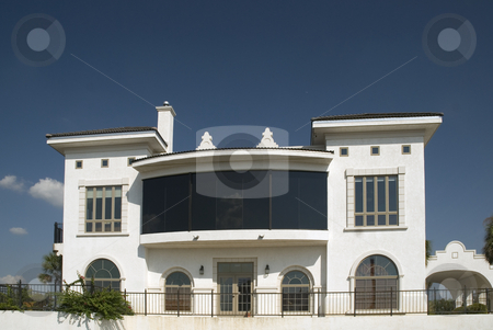 Bay Window stock photo, Large bay window on the outpatience clinic. by Charles Buegeler