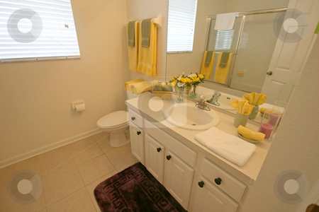 Bathroom stock photo, A Bathroom in a House in Central Florida. by Lucy Clark